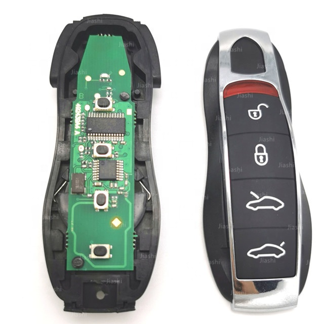 Jiashi auto full smart remote <strong>key</strong> fob for Porsche Cayenne Panamera 4 button with 433Mhz and ID49 chip