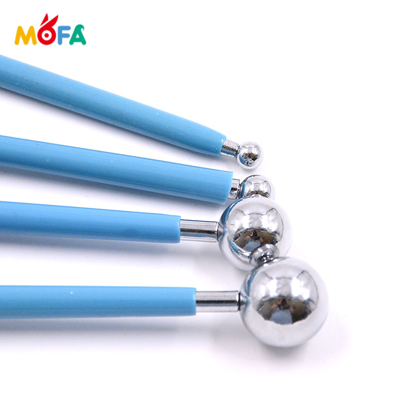 MOFA 4 pcs Stainless steel Children artwork usage polymer clay tools