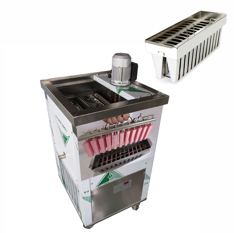 New Arrival 2 Mold Brazil style 52 mold Ice Lolly Popsicle Machine 008613824555378