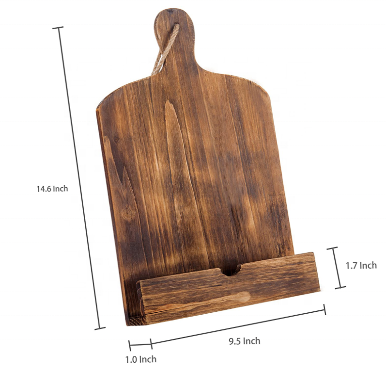 Фон с изображением коричневого деревянного рецептов Подставка для планшета держатель подставки с подставкой