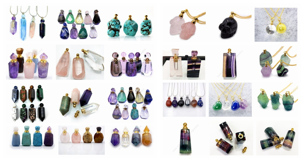 High quality Natural amethyst Perfume Bottle pendant tiny handmade Faceted Amethyst pendant Mojo Bottle healing crytal Fashion
