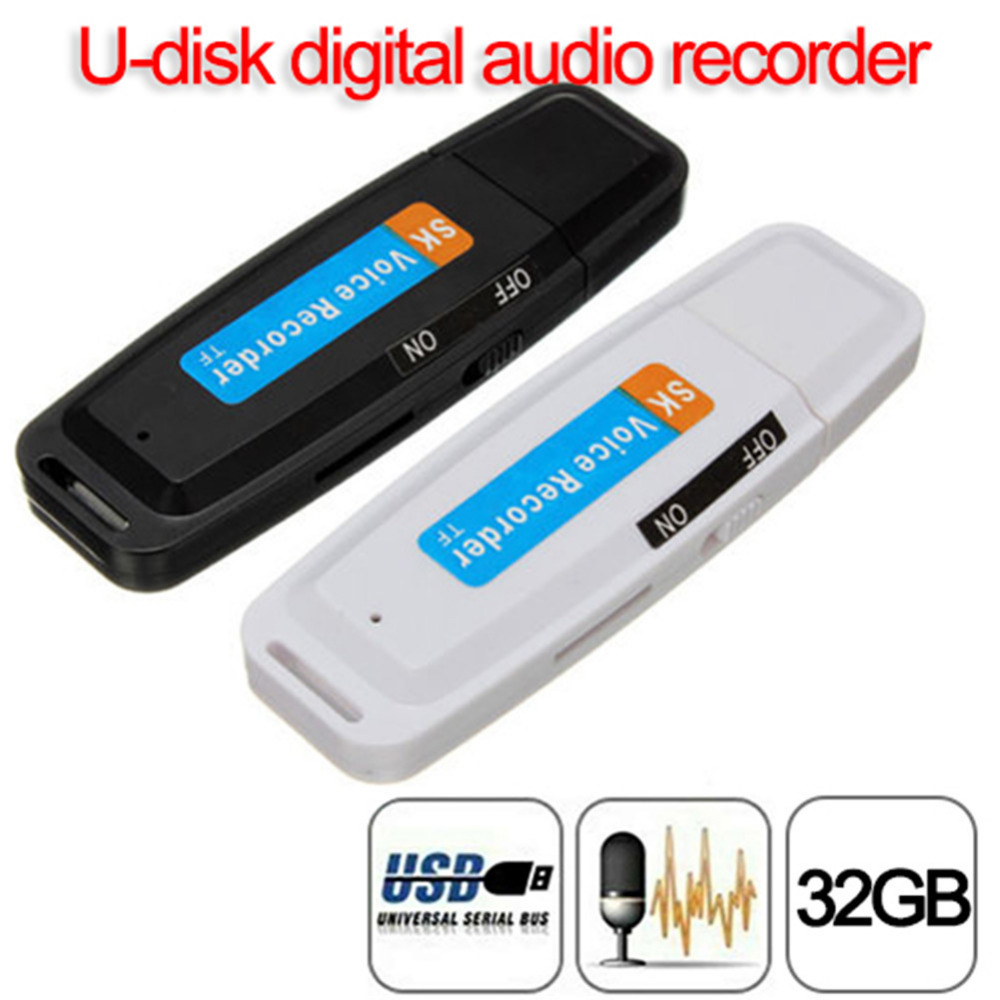 New arrival U-Disk Digital Audio Voice Recorder Pen charger USB Insert card recorder 32G U disk