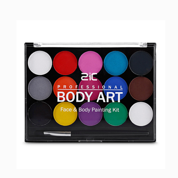 Private Label 15 Colors Professional Water based Non-toxic Body Art - Face & Body Painting Kit