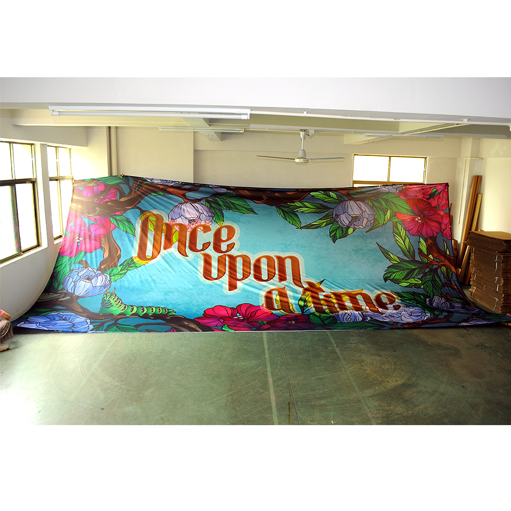 Large Fabric <strong>Banner</strong> Custom Polyester <strong>Cloth</strong> <strong>Banner</strong> Stage Backdrop <strong>Printing</strong>