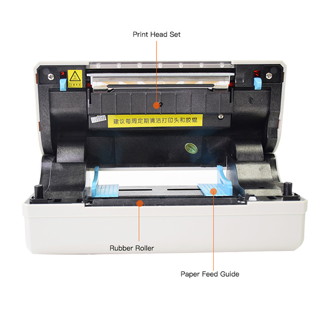 Comer Max 120 Mm Termal Alamat Stiker Label Printer untuk Logistik Express Industri