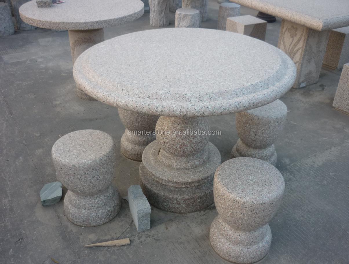 Extérieur/jardin En Pierre De Granit Noir Tableau-4 Places Tables Et  Chaises - Buy Table En Pierre,Table De Jardin,Tables Et Chaises 4 Places  Product ...