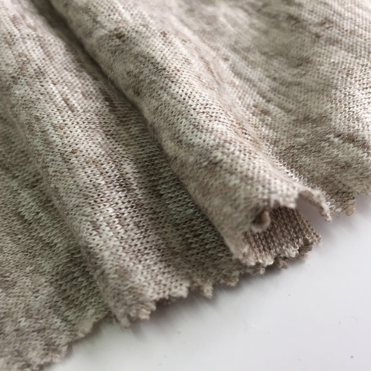New product free sample 100% linen fabric solid color knitted garment curtain fabric