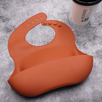 Excellent Feeding Baby Bib Waterproof Silicone Baby Silicone Bibs With Pocket