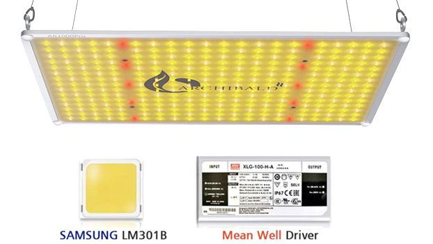 UN 110W Sans Samsung Chip LM301B LM301H Full Spectrum 3500k re di alta ppfd spider SF1000 LED Fattoria Pannello led Coltiva Le Luci