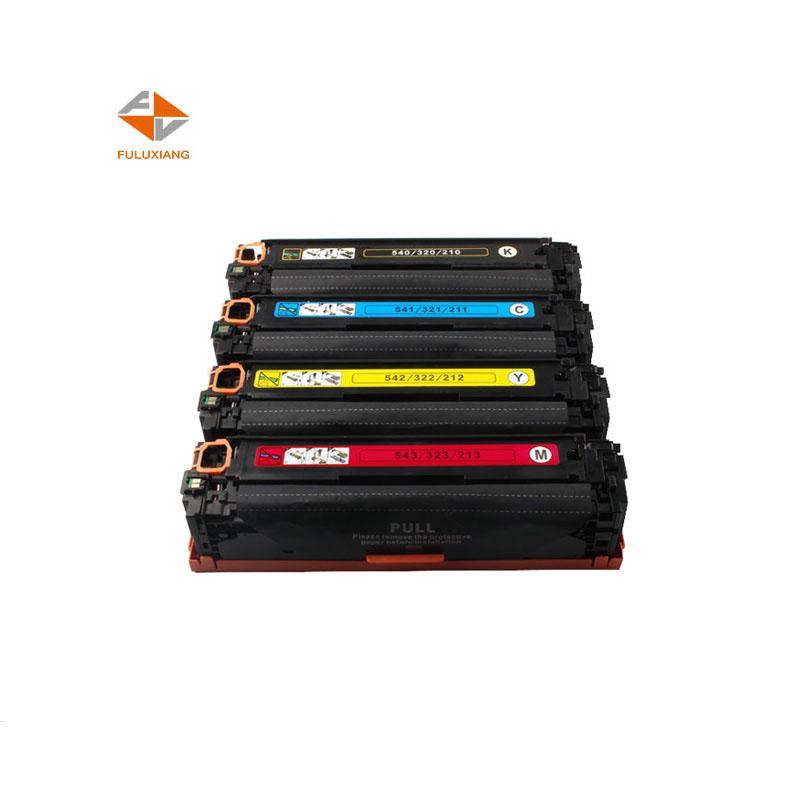 FULUXIANG 125A CB540A CB541A CB542A CB543A עבור Laserjet CP1210/1510 CM1300 תואם hp טונר מחסנית