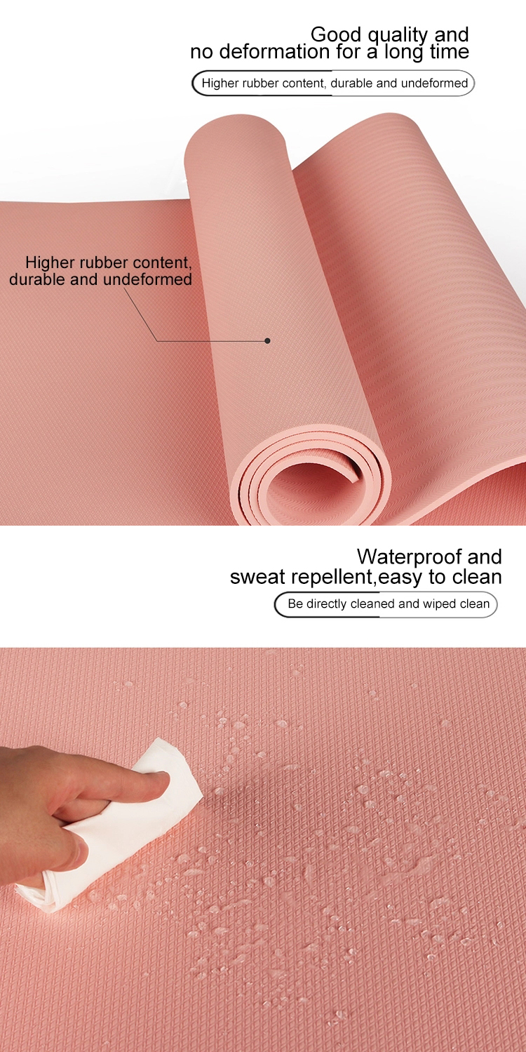 New arrival factory direct wholesale price high foaming natural TPE yoga mat gym mats