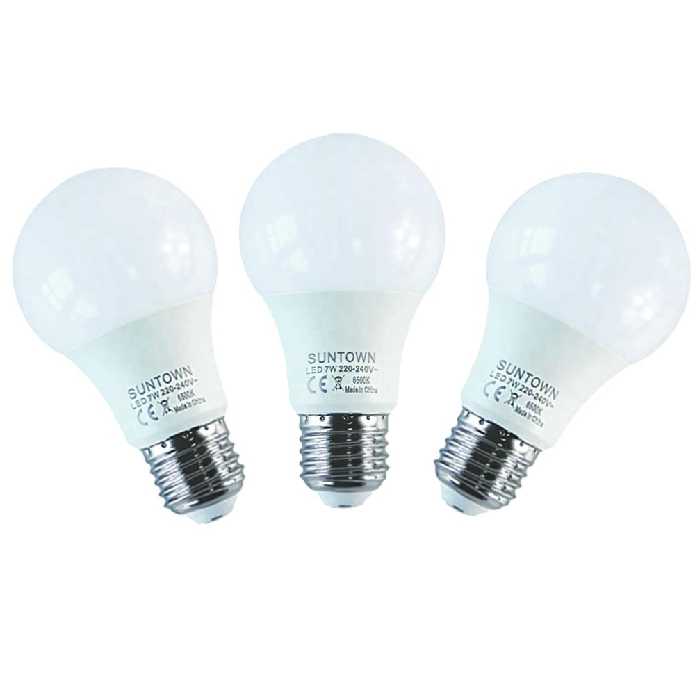 Suntown جودة 100LM/W E27/B22 A60 5W 7W 9W 12W 15W 18W أدى المصابيح