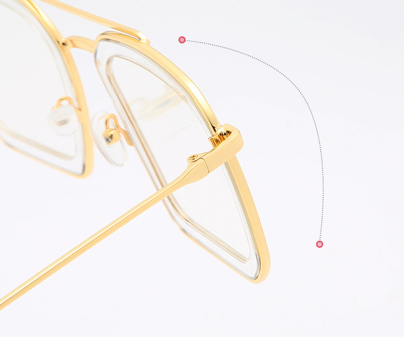 Designer OEM Stylish Square Ladies Glasses Transparent Women Oversize Sunglasses
