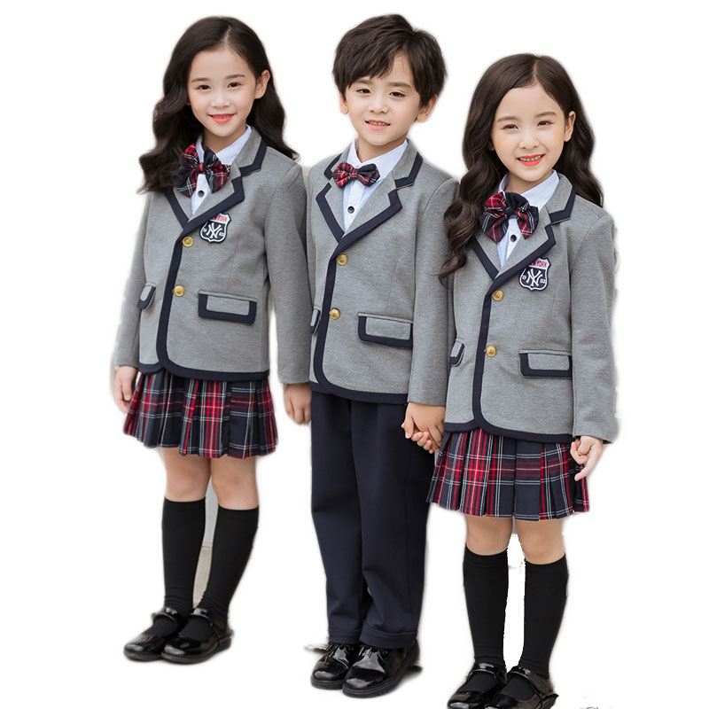 US Design Made Custom Your Special Stylish Kids Wearing Suit Coat School Uniform For High School uniform sweater