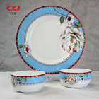 Wholesale Bone China Chinese Style Blue and White Flowers Tableware for Birthday Gift