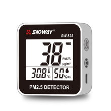 Sndway Digital Gas Analyzers Gas Detector PM 2.5, PM10, PM1 Air Quality Monitor Detector Listrik SW-825 Layar LCD