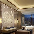 Hotel Suite Painting Latest Chinese Style Flower Mural Handmade Oil Painting Canvas Wall Art Decoration