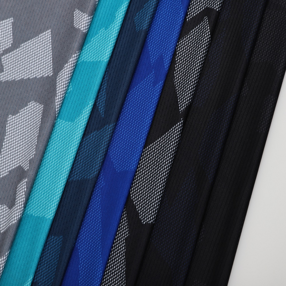Dry Fit Knitted Digital Printed Polyester Fabric Mesh for Sportswear
