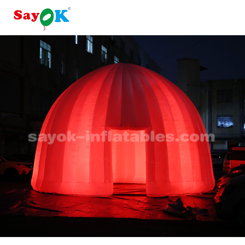 8m outdoor advertising inflatable dome tent for camping
