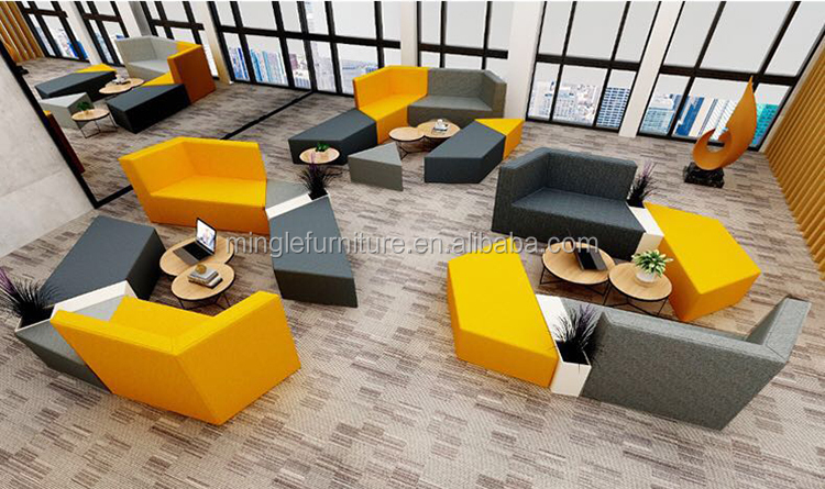 Simple design Fabric Modular conference sofa for reception public area
