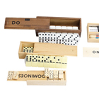 Dominoes Set Dominoes Wooden Set Colored Wooden Dominoes Game Set