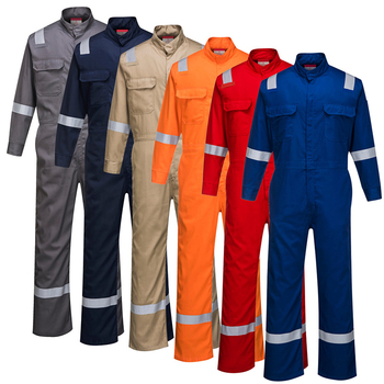 High performance flame retardant anti static anti Arc working aramid nomex coveralls with reflective tape