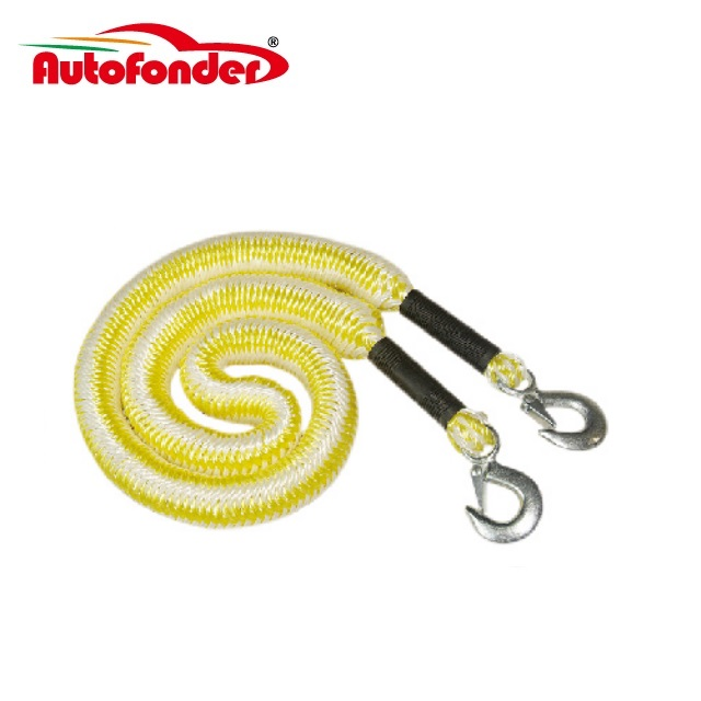 Yellow Color Elastic Force Tow Straps with Forged Hook