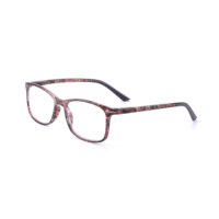 Colorful Flower Spring Temple Thin Unbreakable Eye Reading Clip Glasses