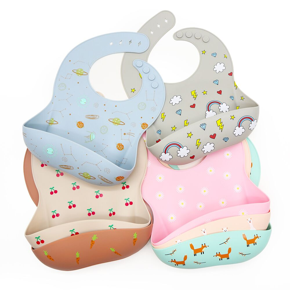 2020 Soft Non-Toxic Soft Waterproof Washable Baby Pacifier silicone Bib