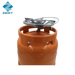 China LPG cylinder 6kg with camping valve for home cooking, household and camping