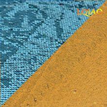 Двусторонняя ткань с блестками «русалка» и «рыбья чешуя», 125x45 см, цвет зеленый/розовое золото, блестящая ткань с пайетками для платья, бикин...(Китай)