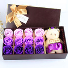 K020594 12 Heads Soap Rose Flowers Wholesale Wedding Souvenirs Pinte-rest for Birthday Gift