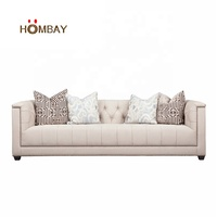 Corner leather sofa classic chesterfield