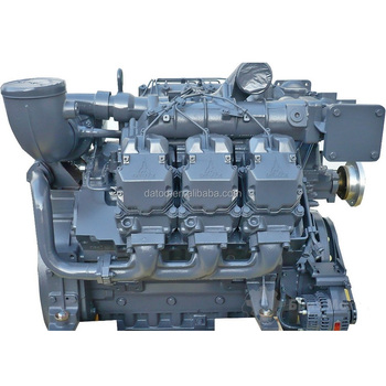 V type 6 cylinder water cooled stationary power 256kw Deutz Diesel Engine BF6M1015C