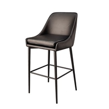 Commercial Restaurant Counter Chair Luxury High Chair Bar Stool Leather PU Modern with Back