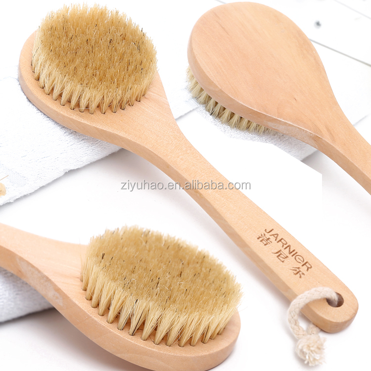 Hot selling  Bath Dry Body  Brush skin care  natural wooden brush