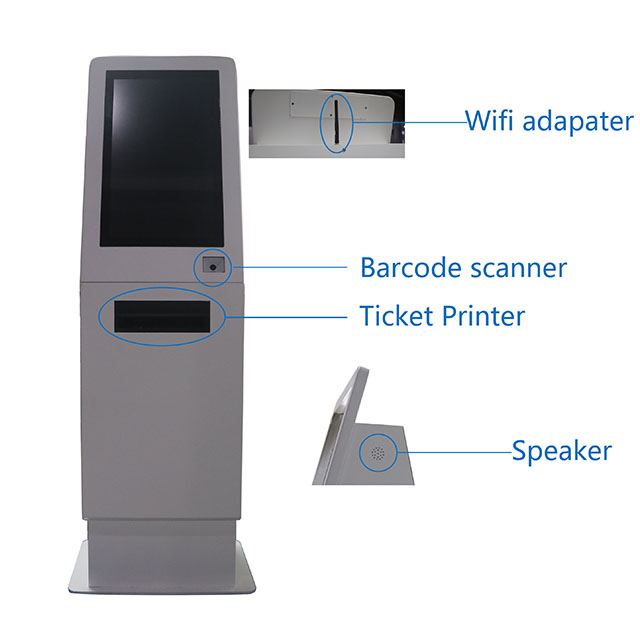 Android 21.5 Inch Self-Service Printer Touch Screen China Self-Serve Kiosk For Qsr And Retail