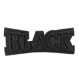 Black English Alphabet Letters Embroidered Iron on Name Patches woven Patch embroidery for Clothes shoes Bag Coat Hat