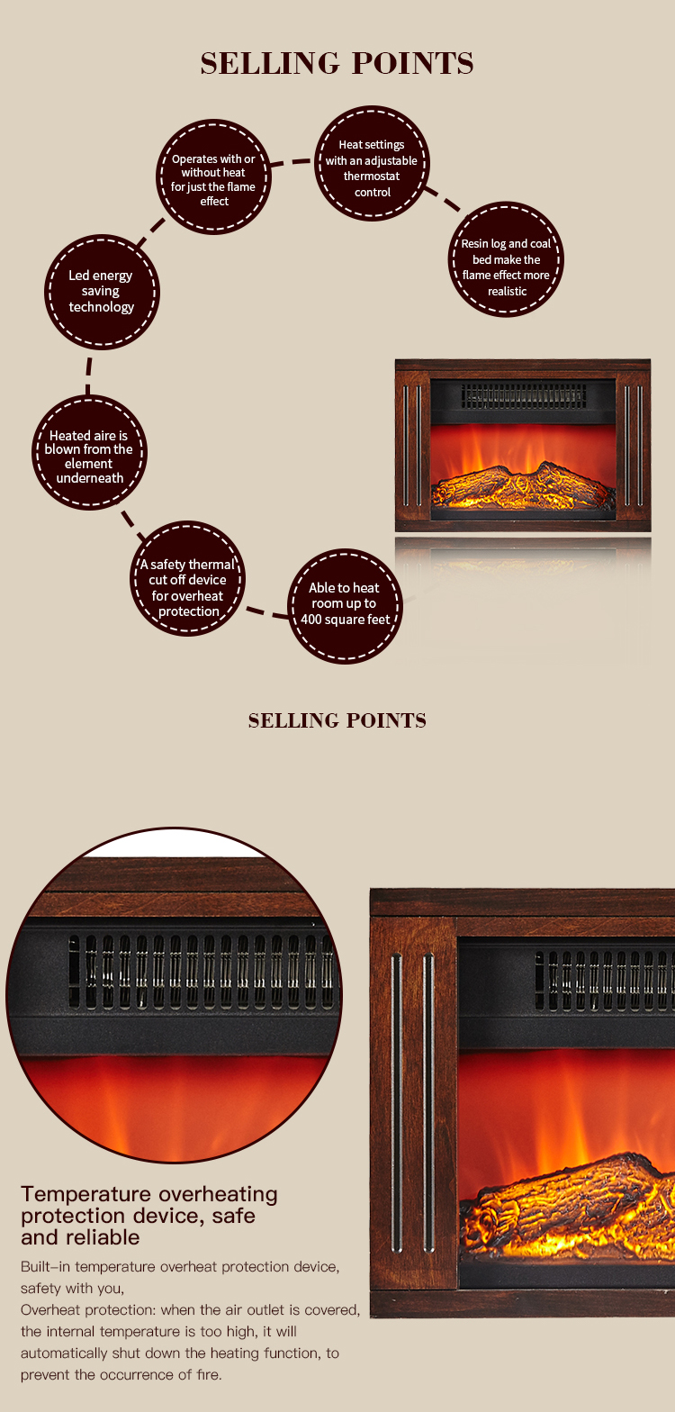 High Quality Low Price Decorative Indoor Heater Led master flame Portable Electric Fireplace Log Mini Wood Desk Tabletop