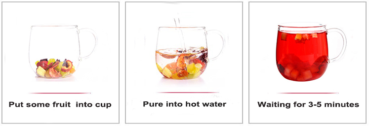 New crop dried fruits mixed for tea peach apple blue berry flavor fruits tea - 4uTea | 4uTea.com