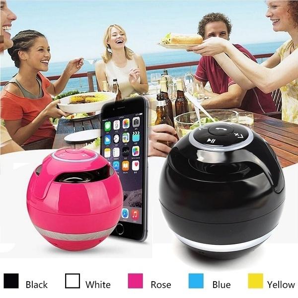 Amazon New A18 ball LED Mini Bass Portable Wireless Bluetooth Speaker with FM Radio TF Mic USB