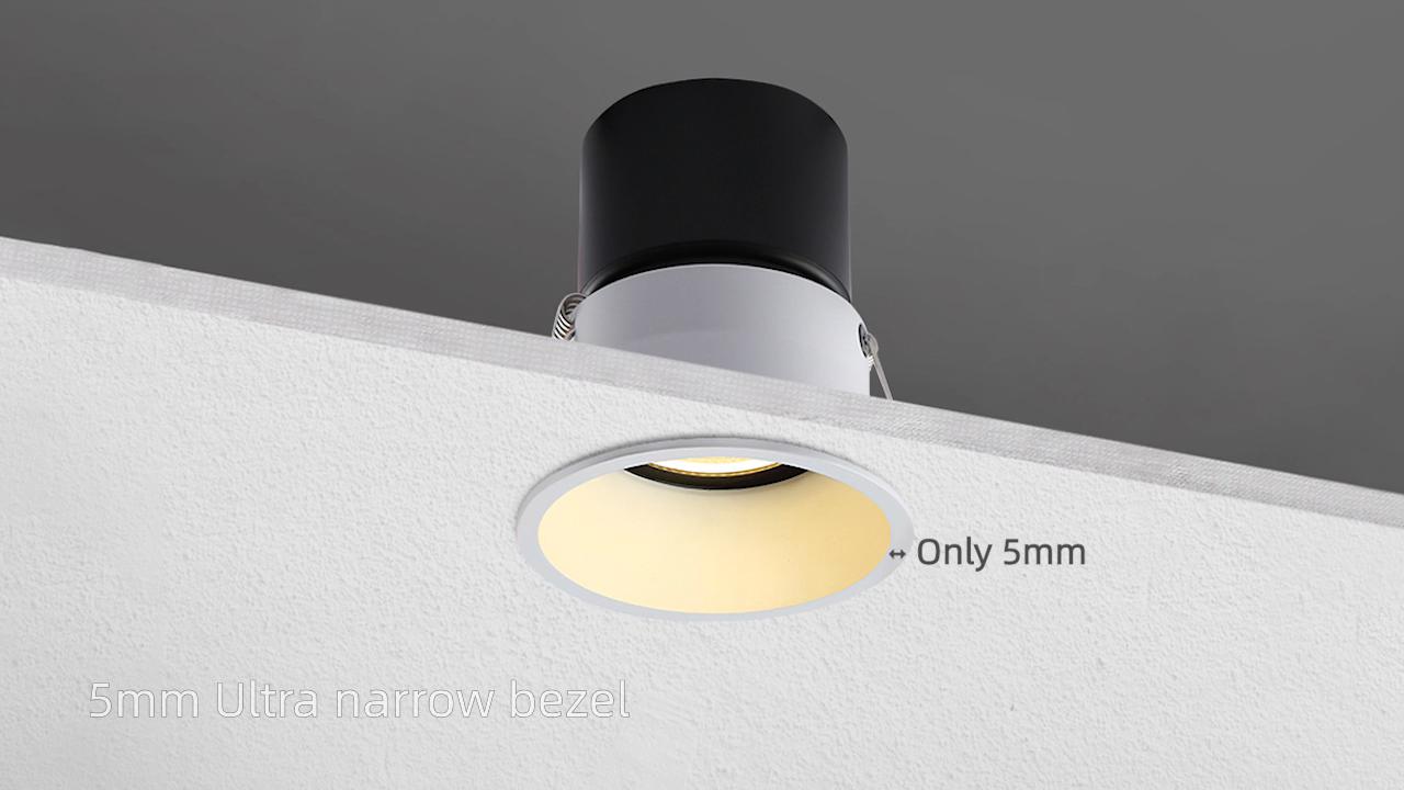 현대 7 와트 dimmable 조정 트림리스 천장 눈부심 스포트 라이트 downlight LED 스포트 라이트