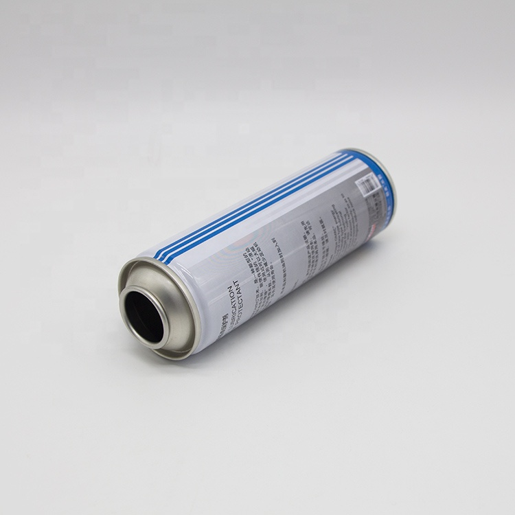 Tinplate aerosol spray can with anti-child tamper protection cap and nozzle