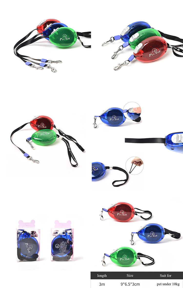 Custom Made Extendable High Quality 3m 5m 8m 10m Retractable Dog Leash for Running Jogging