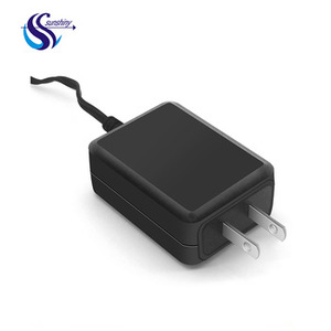 Black US Plug 5V 1000ma 1A 5.5*2.5mm 1.5m ac dc adapter for mobile