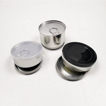 100ml Press It In Tuna Cans Self Seal Tins With Black Lids Bulk Small Tin Ring Pull Can 66*40mm