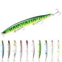 Minnow Fishing Lure Plastic Deep Sea Fishing Bait Floating Lure Tackle 3 Hooks Artificial Bait