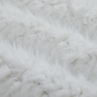 White Color Sherpa Fleece Fabric Special Design Faux Fur Fabrics