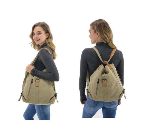 product-GF bags-Canvas Girls Shoulder Bags High Quality Multi-function Women Backpack for Students S-1