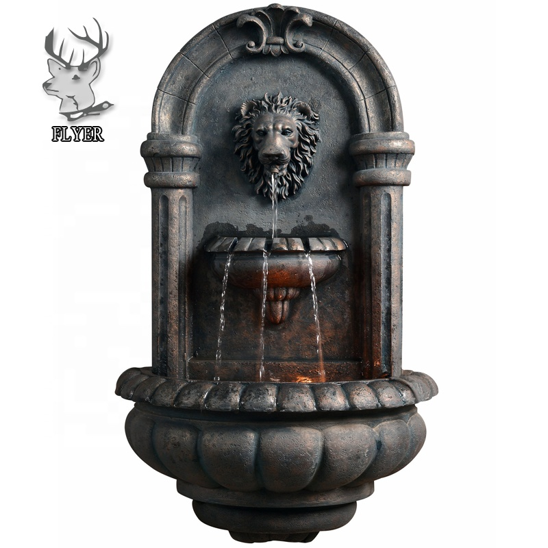 China factory custom size hotsale fiberglass resin water wall fountains for garden outdoor decoration
